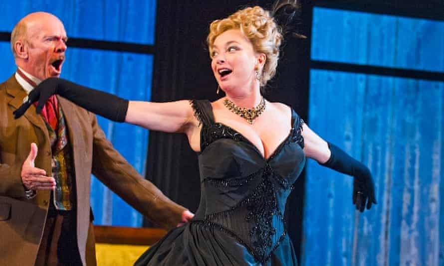 Des McAleer as Mikhail Borkin and Emma Amos as Marfusha Babakina in Ivanov