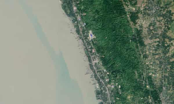 The coast of Bangladesh, just north of Chittagong