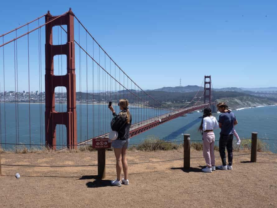 The Golden Gate Bridge in June.