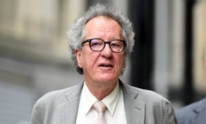 Australian actor Geoffrey Rush arrives at the federal court in Sydney