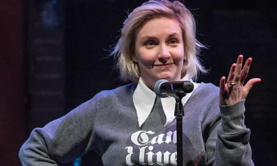 Universal experience or self-obsession … Lena Dunham reads from Not That Kind of Girl during the 2014 Ally Coalition's Talent Show in New York.