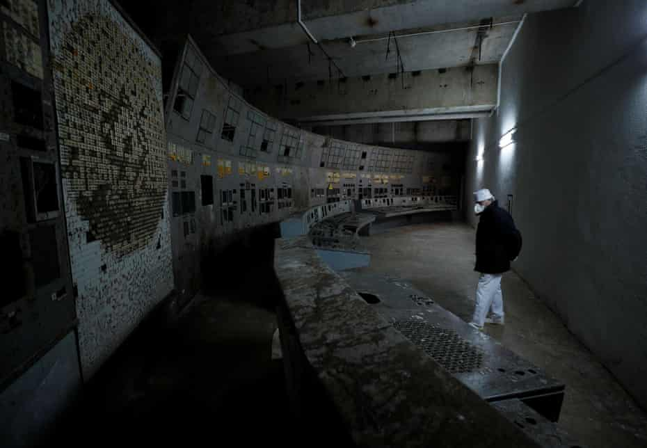Inside the damaged fourth reactor in Chernobyl