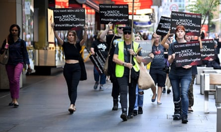 Animal rights protesters march through Sydney's CBD