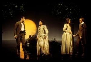 2001: Gordon Gietz as Lysander Ann, Taylor as Hermia Madeline, Bender as Helena, William Dazeley as Demetrius