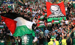Celtic are likely to be fined for allowing their fans to wave Palestinian flags at a Champions League game.