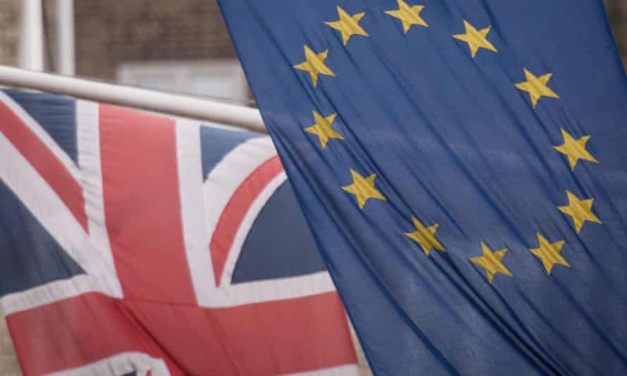 The UK and EU flags. Theresa May has made clear that she wants a judicial system free from ECJ influence.