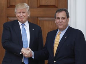 Donald Trump and Chris Christie on 20 November 2016.