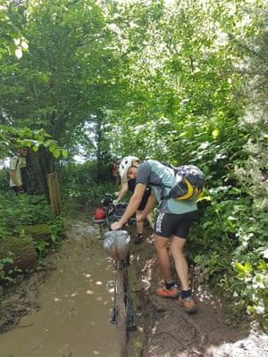 'A particularly deep puddle dealt the killer blow to my derailleur.'