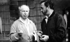 Peter Brook, left, and Jean-Claude Carrière at the Bouffes du Nord.