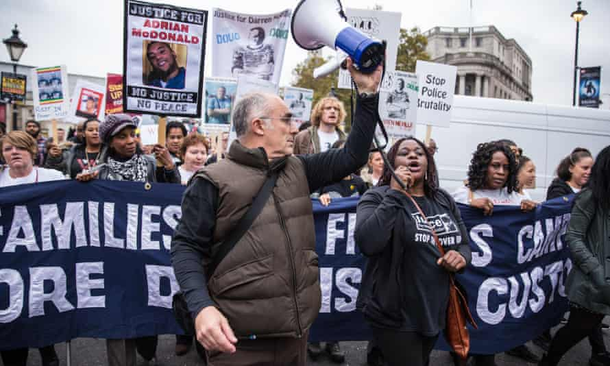 Campaigners from the United Families and Friends Campaign (UFFC) during a 2016 procession to Downing Street in remembrance of family members and friends who died in police custody, prison, immigration detention or secure psychiatric hospitals.
