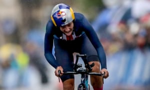 Chloe Dygert took victory in the elite women's time trial on a treacherous day for the riders in Yorkshire.