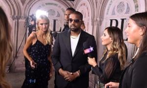 Kanye West arrives for the Ralph Lauren show