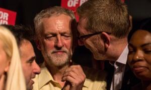 Len McCluskey with Jeremy Corbyn