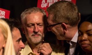 Jeremy Corbyn and Len McCluskey