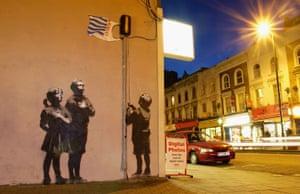Artwork in North London by Banksy