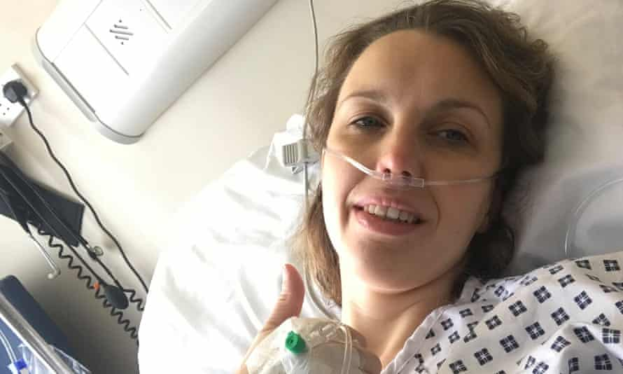 Kelly Moran pictured while in hospital