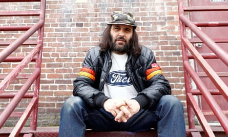 Erik Brunetti, artist and streetwear designer of the clothing brand FUCT, in Los Angeles on 7 April.