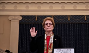 Former Kyiv envoy Marie Yovanovitch told the impeachment hearings that she felt 'kneecapped' by a Rudy Giuliani smear campaign.