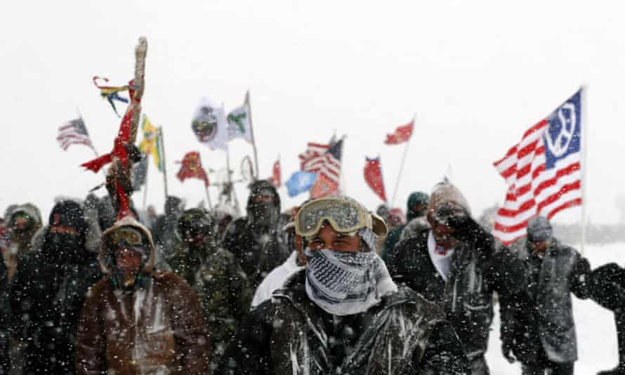 Protesters at the camp have been hit by harsh winter conditions, but many are rejecting the call to leave.