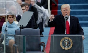 Donald Trump delivers his inaugural address, 20 January 2017