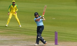 England's Jonny Bairstow whips a ball to the leg side during a century against Australia that extended his rich vein of form in 50-over international cricket.
