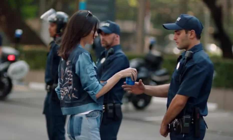 Kendall Jenner in her Pepsi advert