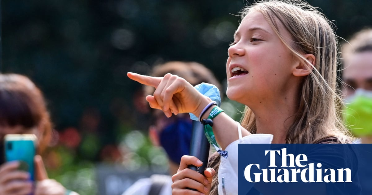 'We see through their lies': Greta Thunberg takes aim at political leaders – video