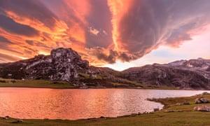 Spain's Picos de Europa at dawn