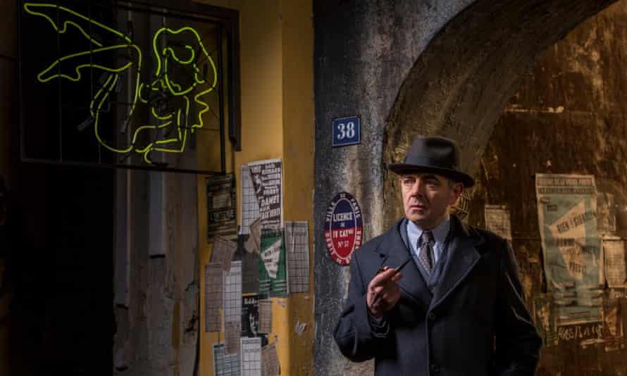 Rowan Atkinson as Inspector Maigret.
