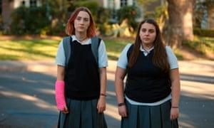 Saoirse Ronan and Beanie Feldstein in Lady Bird.
