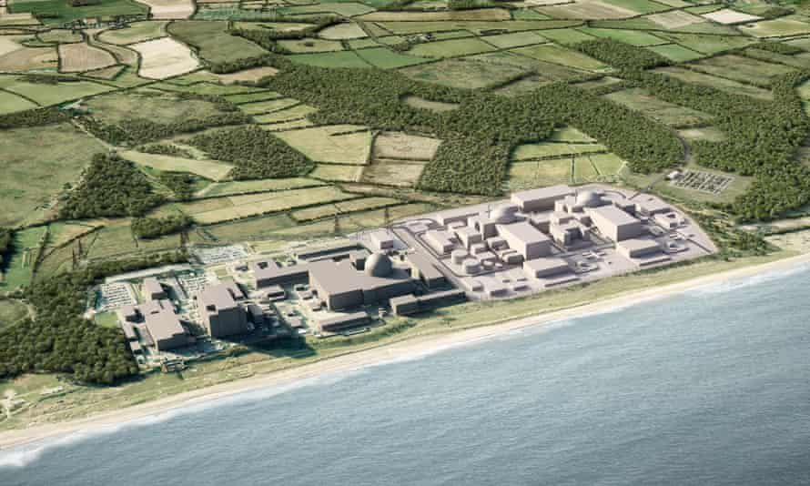 Illustration from EDF of Sizewell C nuclear power plant in Suffolk
