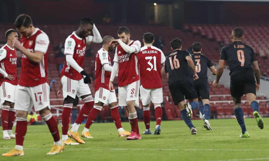 Arsenal were easily outclassed in their 4-1 defeat at home to Manchester City on Tuesday.