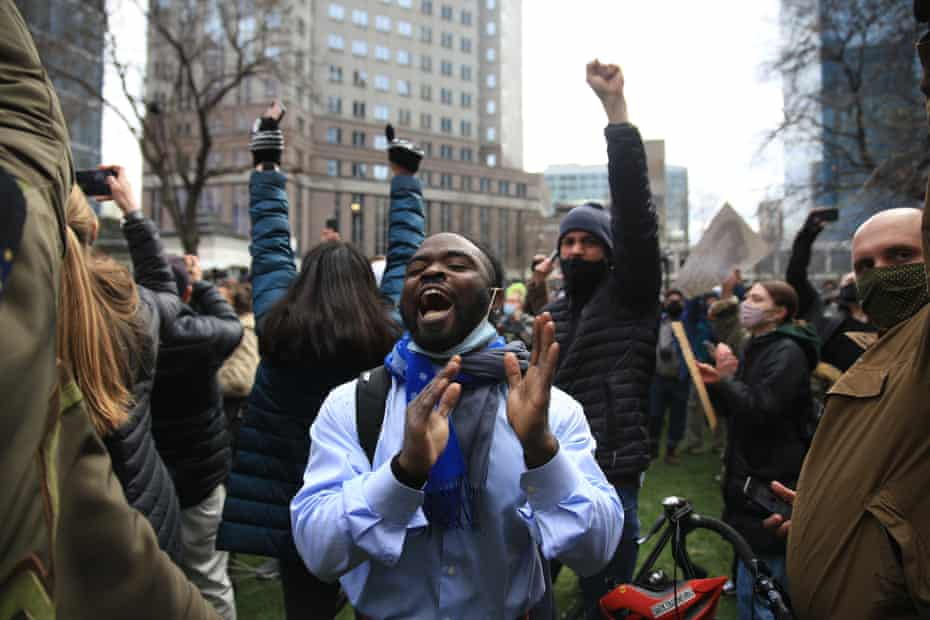 In Minneapolis, celebrations broke out at the news of a guilty verdict.