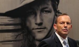 Tony Abbott at the Australian War Memorial