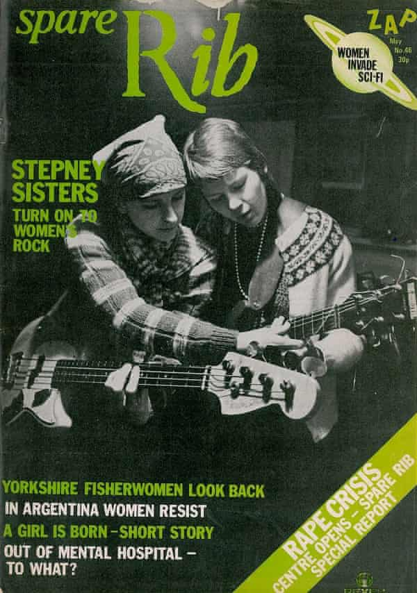 The Stepney Sisters on the cover of Spare Rib magazine in 1976.
