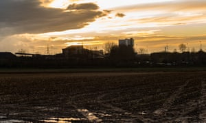 Sunset with Kellingley colliery in the distance