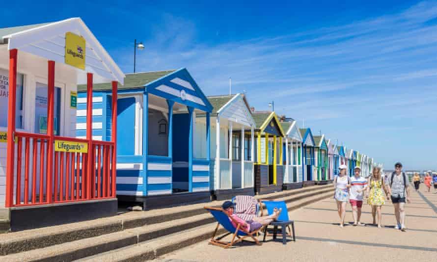 Beach huts on Southwold beach in Suffolk.