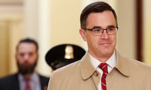 Tim Morrison arrives to testify in Trump impeachment inquiry on Capitol Hill