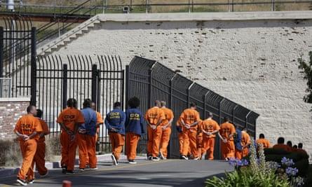 Inmates in California in 2016.