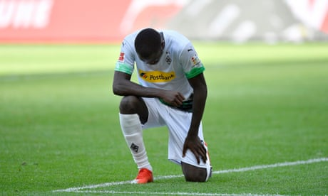 Marcus Thuram takes knee after scoring in powerful tribute to George Floyd