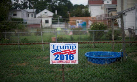 Donald Trump owed his election victory to his popularity in rust-belt areas, such as Schuylkill Haven, Pennsylvania.