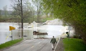 Flooding in Freeland, Michigan