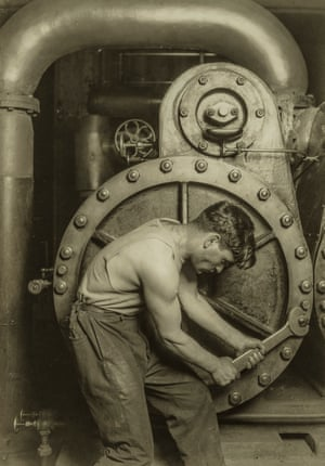 Powerhouse Mechanic Lewis W. Hine (American, 1874–1940) 1924 Photograph, gelatin silver print *The Howard Greenberg Collection—Museum purchase with funds donated by the Phillip Leonian and Edith Rosenbaum Leonian Charitable Trust *Courtesy, Museum of Fine Arts, Boston