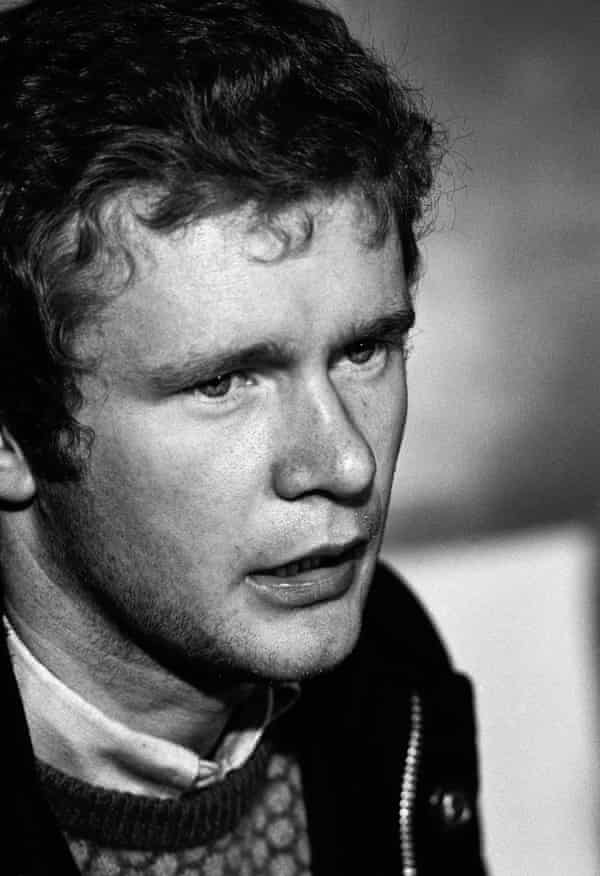 Martin McGuinness at an IRA press conference in Derry in 1972 to lay out terms for a truce and engagement with the British government.