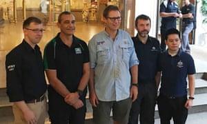 Richard Harris, diving partner and DFAT staff members
