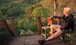 Feet up: Ruaridh Nicoll soaks up the evening sun