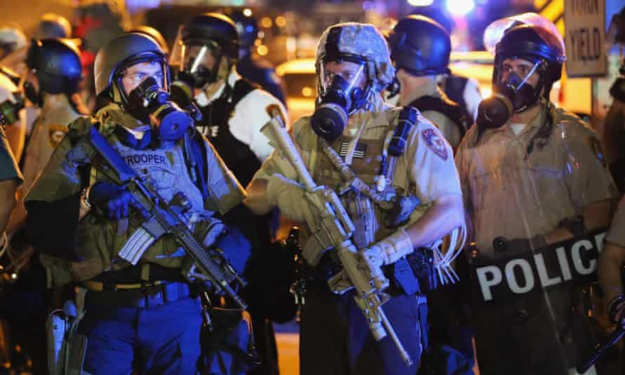 The police response to protests in Ferguson, Missouri, in 2014 led to the recall of tanks, heavy weaponry and other equipment by the federal government.