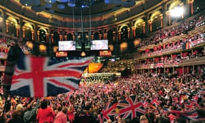 Raising a flag … the 2013 Last Night of the Proms, conducted by Marin Alsop.