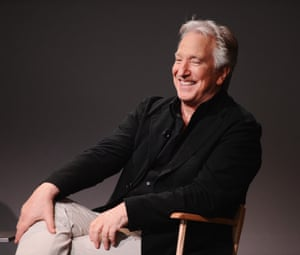 """I do take my work seriously and the way to do that is not to take yourself too seriously"" ... Rickman pictured last year in New York<br>"