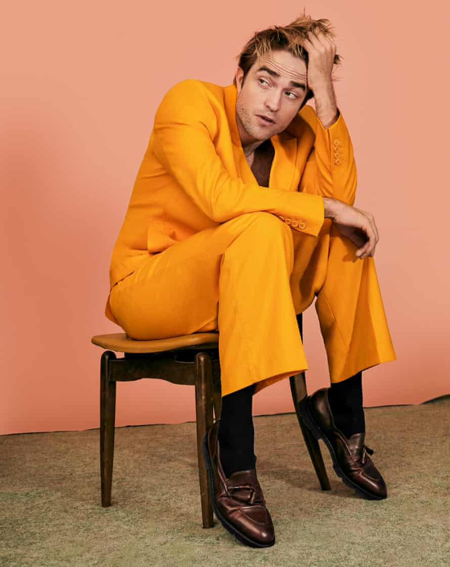 'Before filming, I do whatever I can to not know what is going on': Robert Pattison wears suit by Jacque Mus and shoes by John Lobb.